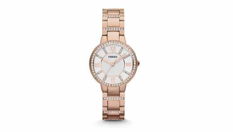 Relic rose gold watch